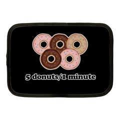 Five Donuts In One Minute  Netbook Case (medium)  by Valentinaart