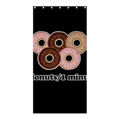 Five Donuts In One Minute  Shower Curtain 36  X 72  (stall)  by Valentinaart