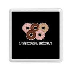 Five Donuts In One Minute  Memory Card Reader (square)  by Valentinaart
