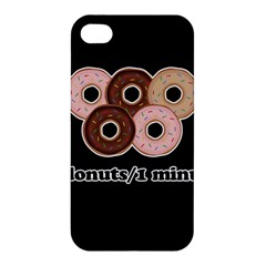 Five Donuts In One Minute  Apple Iphone 4/4s Hardshell Case by Valentinaart