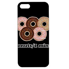 Five Donuts In One Minute  Apple Iphone 5 Hardshell Case With Stand by Valentinaart