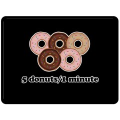 Five Donuts In One Minute  Double Sided Fleece Blanket (large)  by Valentinaart