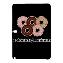 Five Donuts In One Minute  Samsung Galaxy Tab Pro 10 1 Hardshell Case by Valentinaart
