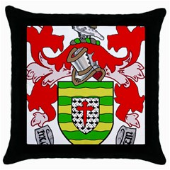 County Donegal Coat Of Arms Throw Pillow Case (black) by abbeyz71