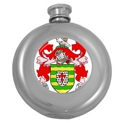 County Donegal Coat Of Arms Round Hip Flask (5 Oz) by abbeyz71