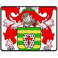 County Donegal Coat Of Arms Double Sided Fleece Blanket (medium)  by abbeyz71