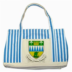 Coat Of Arms Of County Kerry  Striped Blue Tote Bag by abbeyz71
