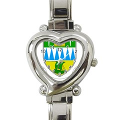 Coat Of Arms Of County Kerry Heart Italian Charm Watch by abbeyz71