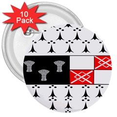 County Kilkenny Coat Of Arms 3  Buttons (10 Pack)  by abbeyz71