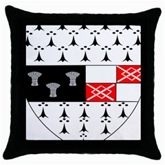 County Kilkenny Coat Of Arms Throw Pillow Case (black) by abbeyz71