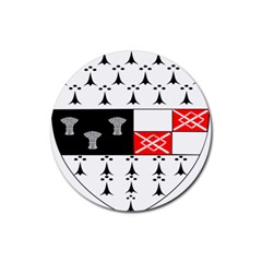 County Kilkenny Coat Of Arms Rubber Coaster (round)  by abbeyz71
