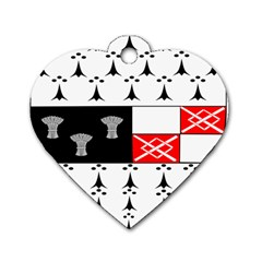 County Kilkenny Coat Of Arms Dog Tag Heart (one Side) by abbeyz71
