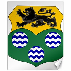 County Leitrim Coat Of Arms Canvas 11  X 14   by abbeyz71