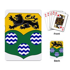 County Leitrim Coat Of Arms  Playing Card by abbeyz71
