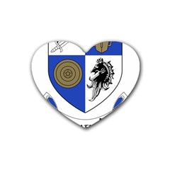 County Monaghan Coat Of Arms Heart Coaster (4 Pack)  by abbeyz71