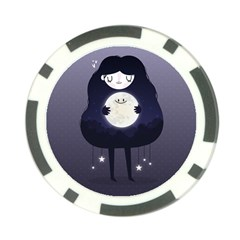 Moon Poker Chip Card Guard by Mjdaluz