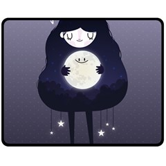 Moon Fleece Blanket (medium)  by Mjdaluz