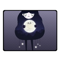 Moon Double Sided Fleece Blanket (small)  by Mjdaluz