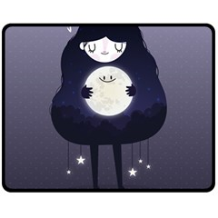 Moon Double Sided Fleece Blanket (medium)  by Mjdaluz