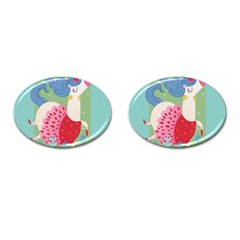 Unicorn Cufflinks (oval) by Mjdaluz