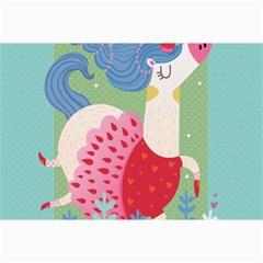 Unicorn Canvas 12  X 18   by Mjdaluz