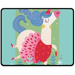 Unicorn Fleece Blanket (medium)  by Mjdaluz