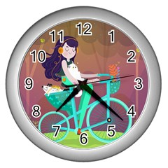 Bikeride Wall Clocks (silver)  by Mjdaluz