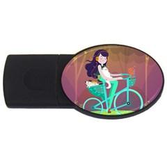 Bikeride Usb Flash Drive Oval (2 Gb) by Mjdaluz