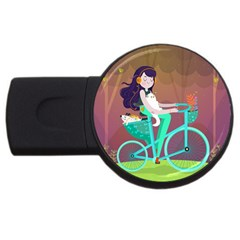 Bikeride Usb Flash Drive Round (4 Gb) by Mjdaluz