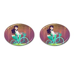 Bikeride Cufflinks (oval) by Mjdaluz