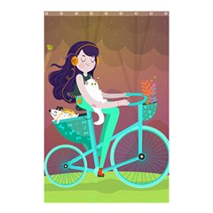 Bikeride Shower Curtain 48  X 72  (small)  by Mjdaluz