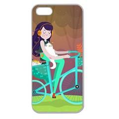 Bikeride Apple Seamless Iphone 5 Case (clear) by Mjdaluz