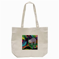 Sloth In Nature Tote Bag (cream) by Mjdaluz