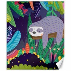 Sloth In Nature Canvas 8  X 10  by Mjdaluz