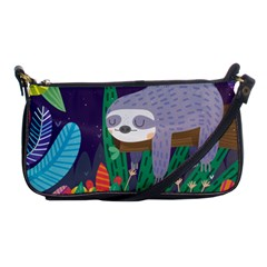 Sloth In Nature Shoulder Clutch Bags