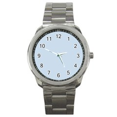 Pastel Color   Light Azureish Gray Sport Metal Watch by tarastyle
