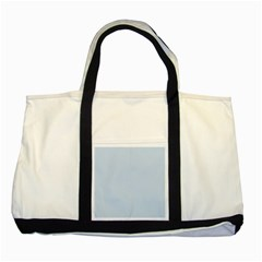Pastel Color   Light Azureish Gray Two Tone Tote Bag by tarastyle