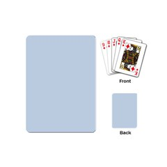 Pastel Color   Light Azureish Gray Playing Cards (mini)  by tarastyle