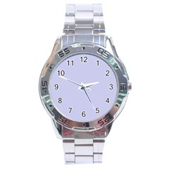 Pastel Color   Light Bluish Gray Stainless Steel Analogue Watch by tarastyle