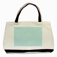 Pastel Color   Light Cyanish Gray Basic Tote Bag (two Sides) by tarastyle
