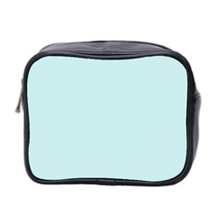 Pastel Color - Light Cyanish Gray Mini Toiletries Bag 2-Side