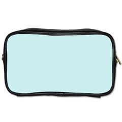 Pastel Color   Light Cyanish Gray Toiletries Bags 2 Side by tarastyle