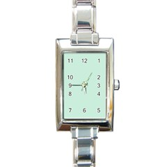 Pastel Color   Light Greenish Gray Rectangle Italian Charm Watch by tarastyle