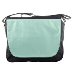 Pastel Color   Light Greenish Gray Messenger Bags by tarastyle
