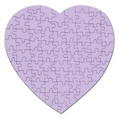 Pastel Color   Light Violetish Gray Jigsaw Puzzle (heart) by tarastyle