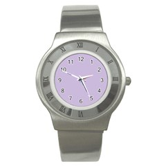 Pastel Color   Light Violetish Gray Stainless Steel Watch by tarastyle