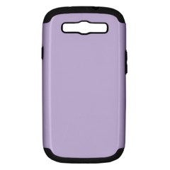 Pastel Color   Light Violetish Gray Samsung Galaxy S Iii Hardshell Case (pc+silicone) by tarastyle