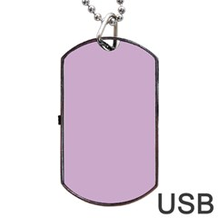 Pastel Color   Magentaish Gray Dog Tag Usb Flash (one Side) by tarastyle