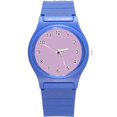 Pastel Color   Magentaish Gray Round Plastic Sport Watch (s) by tarastyle