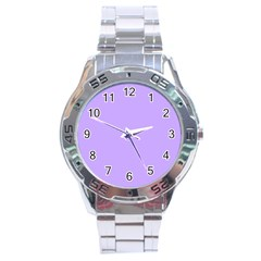 Pastel Color   Pale Blue Violet Stainless Steel Analogue Watch by tarastyle